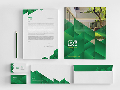 Ecologic Stationery Pack #ecologic #modern #professional #minimal #stationery #template #green