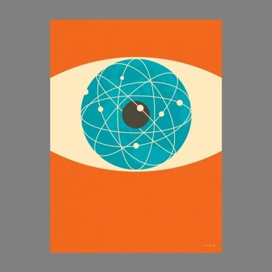 excites | Graphic Designer | Simon C Page #print #color #eye #illustration #poster #science