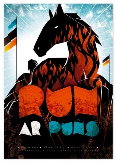 Graphic-ExchanGE - a selection of graphic projects #illustration #horse #poster