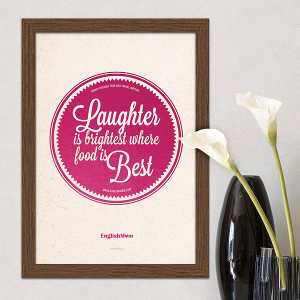 Laughter is Brightest kitchen wall print #print #design #graphic #wall #typography