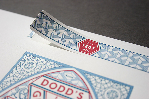 Dodd's gin letterpress label #label