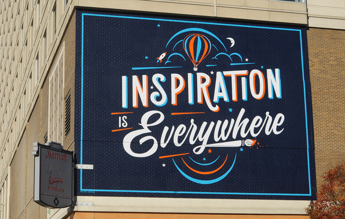Bryan Todd - Inspiration is everywhere #mural