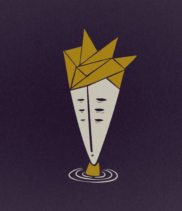 the swimmer #eyes #design #yellow #hair #illustration #lake #character