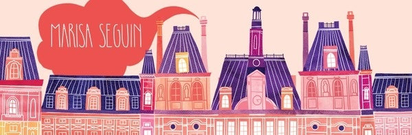 Marisa Seguin Illustration #illustration #colour #house