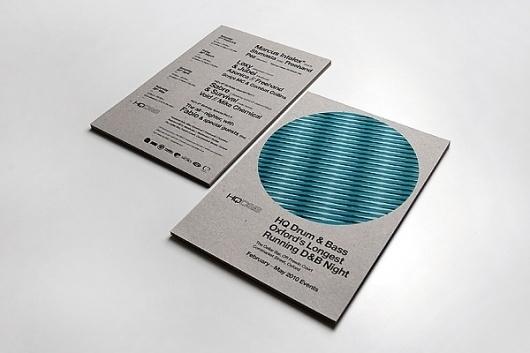 HQ D&B Flyer on the Behance Network #swiss #print #flyer #illustration #minimal #1970 #1960 #typography