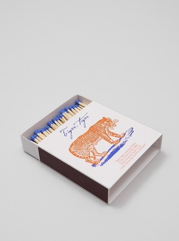 A Fine Match Box Co - Tiger Poem   Present London #matchbox #match #a #packaging #design #co #box #package #fine