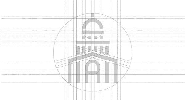 Projet de logo pour l'université Paris II | Phileman Agence de communication et de design Nantes / Lorient #design #graphic #grid #brand #building #identity #logo #layout #grey