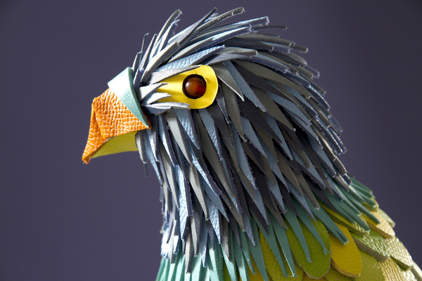 Leather Parrot for Hermès, for Hilton Mc Connico's exhition in Hong Kong #sculpture #leather