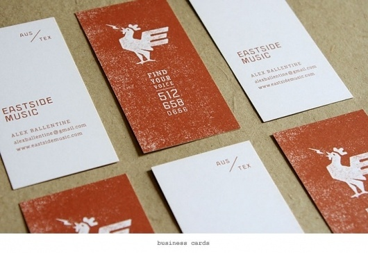 Karl Hebert's Design Work #card #rooster #collateral #business