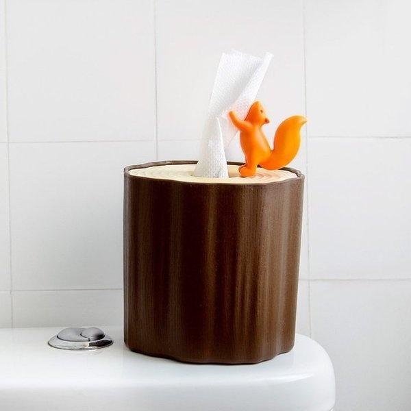 Squirrel Tissue Log #toilet #paper #home