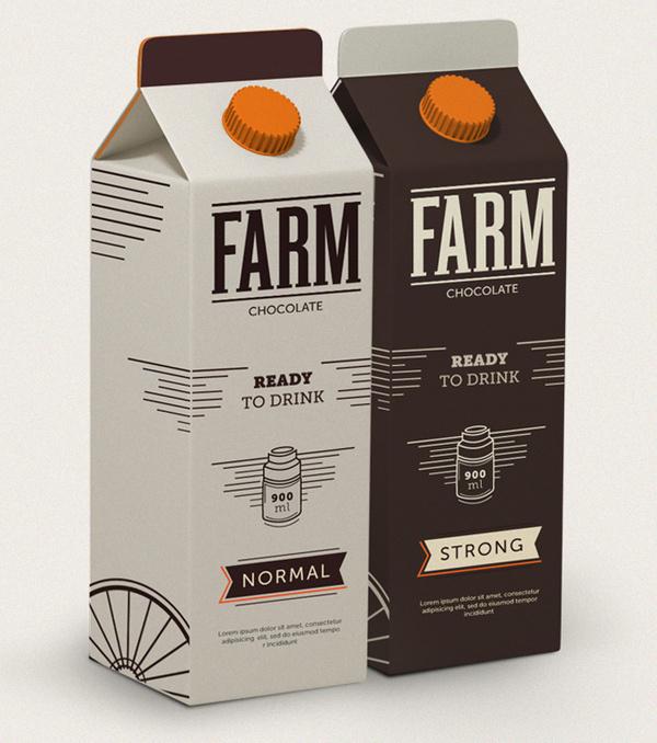 Concept:Â FARM The Dieline #packaging #vintage #food