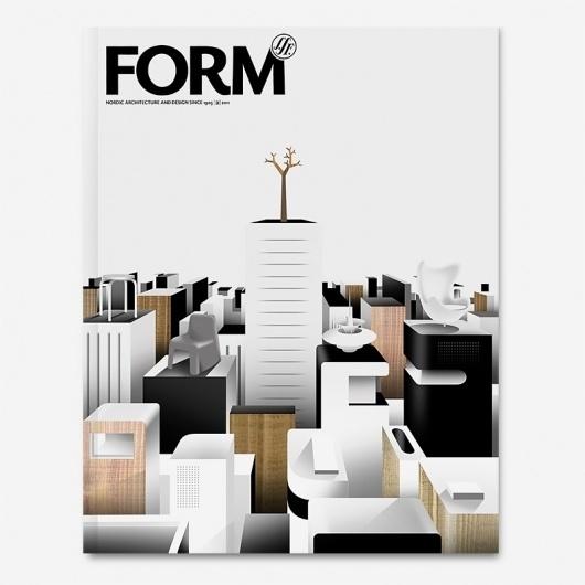 Form Magazine - Borja Bonaque #design #graphic #cover #illustration #magazine