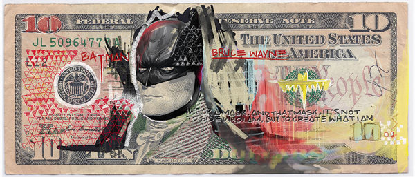Justice League Of America on Behance #paint #money #superhero