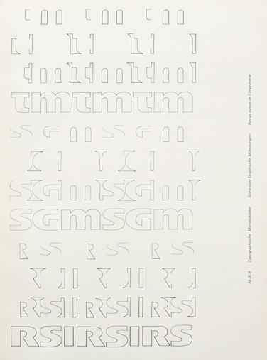 Typografische Monatsblätter. Die Fachzeitschrift für Typografie, Schrift und visuelle Kommunikation.   Cover from 1966 issue 8/9   Cover #layout #swiss #typography