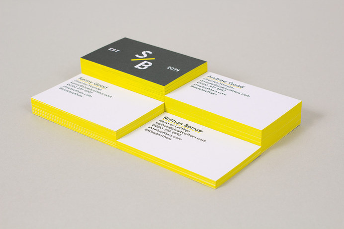The Stow Brothers – Branding — Build #edge #coloring #business #card #print #stationery