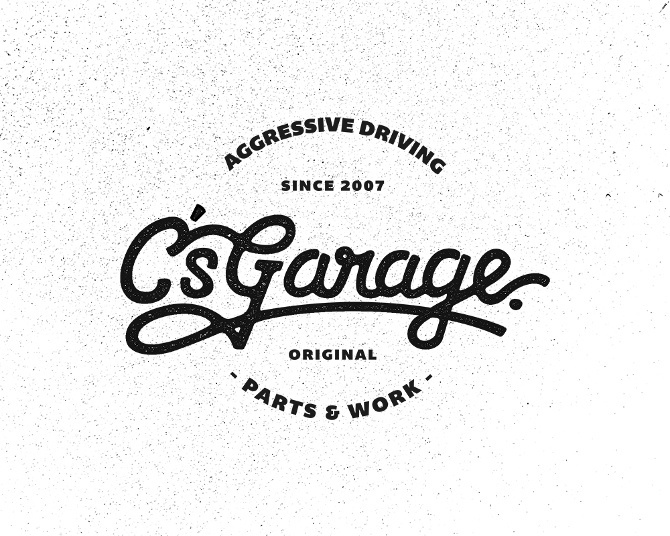 C's Garage by Jason Domancie #typography #lettering