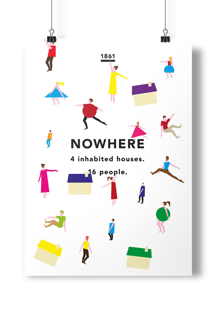 #nowhere #people #illustration #colour #town