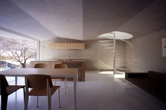 House in Nagoya by SUPPOSE design office | Yatzer™ #ceilings #interiors #architecture #stairs #light