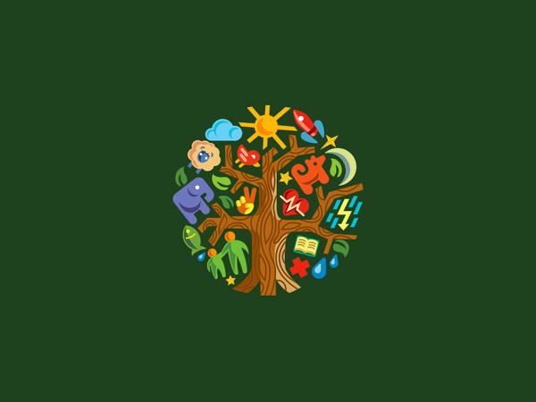 Mark #mark #tree #animals #logo #illustraiton