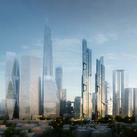 Dancing Dragons by Adrian Smith and Gordon Gill Architecture #skyscraper #architecture