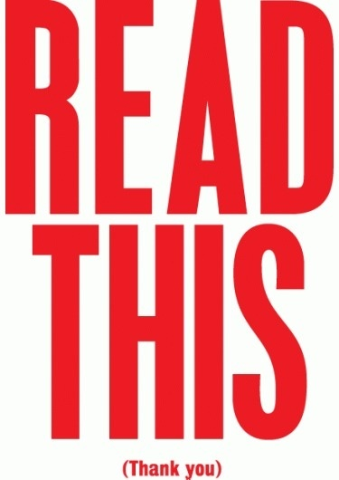 ANTHONY BURRILL #red #this #burrill #design #anthony #read #typography