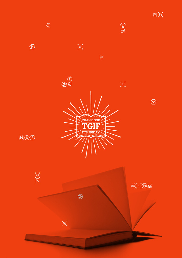 TGIF ! EXHIBITION VISUAL IDENTITY on the Behance Network #brand #logo #print