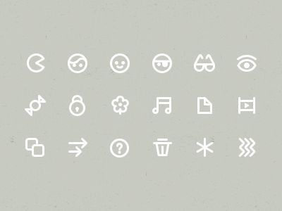 More Icons #pictogram #iconography #icon #sign #glyph #iconic #picto #symbol #emblem