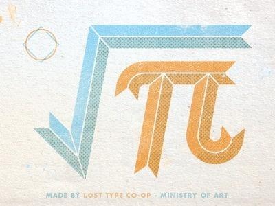 Lost Type Co-op #math #textured #type #orange #vintage #blue