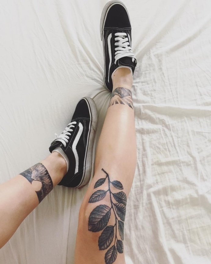 Sofia Samuelsson. Tattoo by Johannes Folke