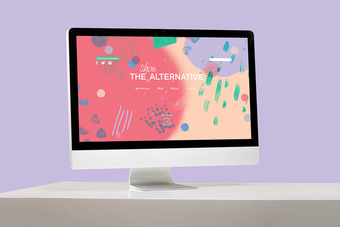 The Shoe Alternative on Behance #colourful #shoe #ui #website #imac #inspiring #alternative
