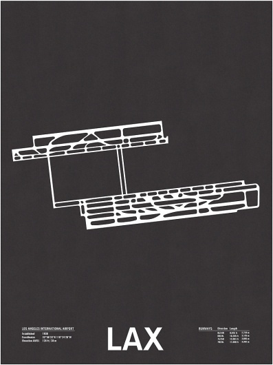 Nomo Design Shop — LAX: Los Angeles International Airport #los #runway #design #screenprint #poster #angeles #airport