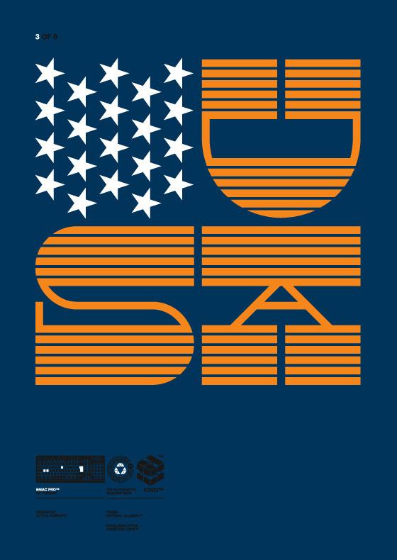 Eniac Pro Exclusive Typeface for HypeForType, 2010. on Behance #orange #stars #contrast #slab #usa #reverse #blue
