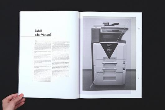 Gestalterkrankheiten on the Behance Network / Bench.li #layout #book #magazine #typography