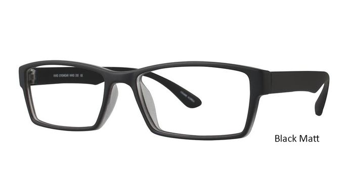 Black Matt Vivid Eyeglasses Vivid 232.