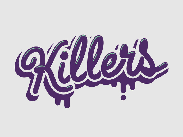 Killers Script – E3 #typography #hand lettering
