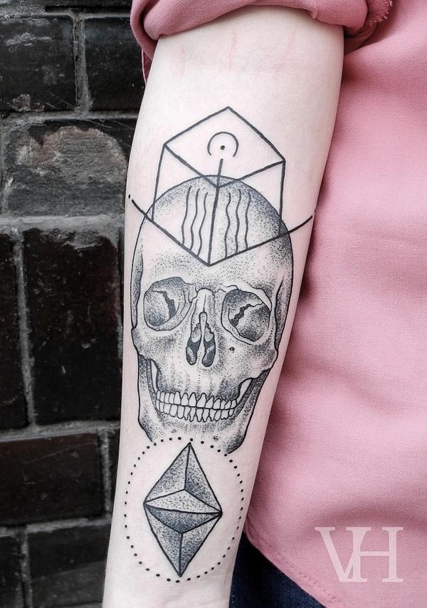 http://valentinhirsch.wordpress.com/ #skull #white #black #and