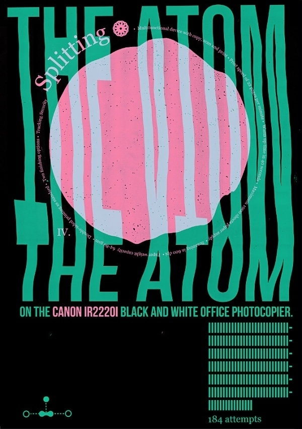 Splitting the Atom - theduncan.co.uk #design #poster #typography