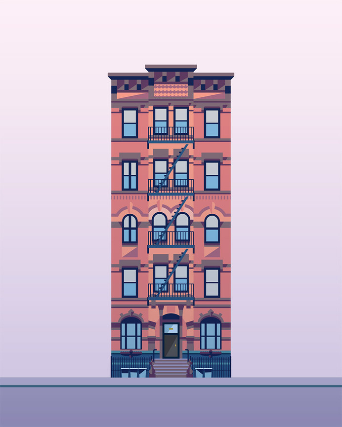 Illustration Prints—East Village Buildings - Nathan Manire — Portfolio #illustration #building