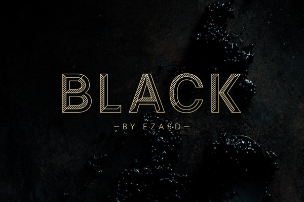Round – Black by Ezard #letters #distressed #typography