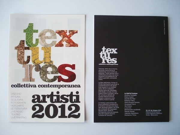 Textures Collettiva Contemporanea on the Behance Network #design #graphic #contemporary #exhibition #catalogue #art #layout #brochure #typography