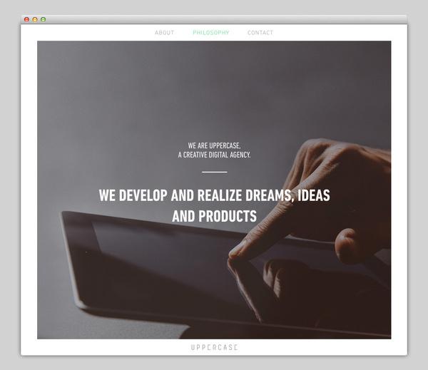 Uppercase #website #layout #design #web