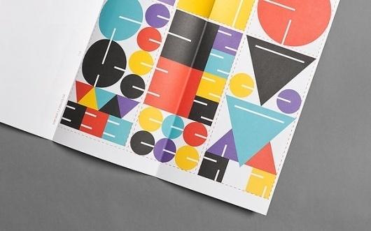 Designinstituttet on the Behance Network #minimalistic #design #graphic #geometric #colors #brochure