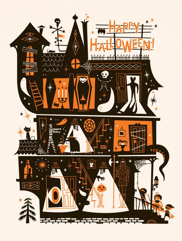 Lab Partners - Happy Halloween #ghost #halloween #house #lab #haunted #illustration #partners