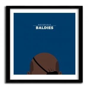 Notorious Baldie NICK FURY by Mr Peruca #print
