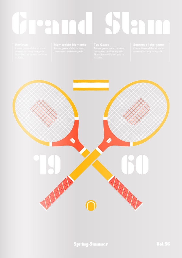 enso typeface on Behance #tennis #illustration #poster #layout #typography