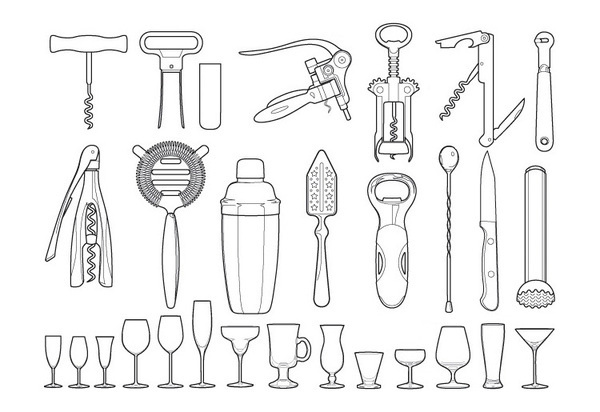 "Chronicle Books, ""The Ultimate Bar Guide"" #illustration #vector #objects"