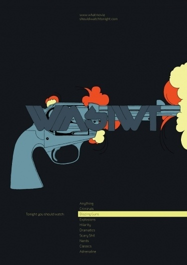 Kevin Yaun Portfolio #gun #movies #design #poster