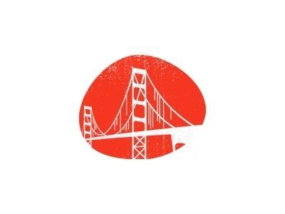 Golden Gate Bridge Illustration #icon #illustration #orange #brand
