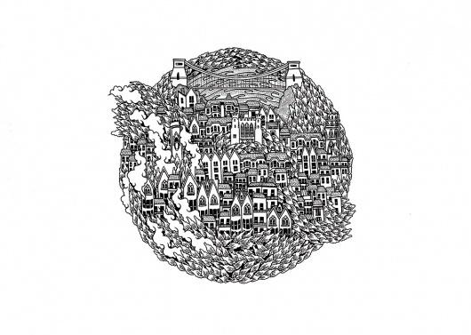 Tom Berry #ink #white #black #bristol #tom #berry #pen #art #drawing #detail