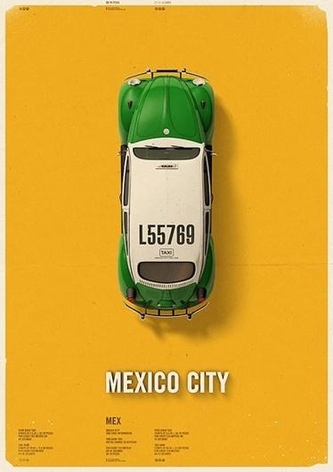 City Cab Poster by Mehmet Gozetlik | TrendLand: Fashion Blog & Trend Magazine